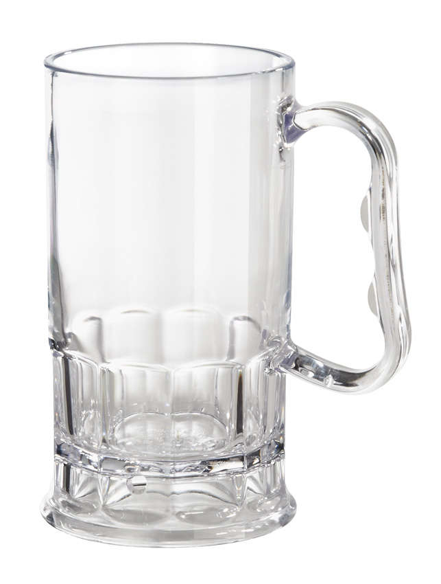 "10 oz. (10 oz. Rim-Full), 2.75"" (4"" w/Handle) Beer Mug, 5"" Tall"