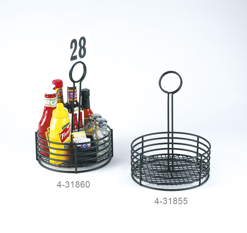 """7.5"""" Round Caddy, 9.5"""" Tall, PE Coated"""