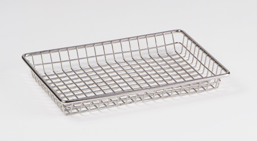 "12"" x 8"" Stackable Rectangular Grid Basket, 1.5"" Tall"