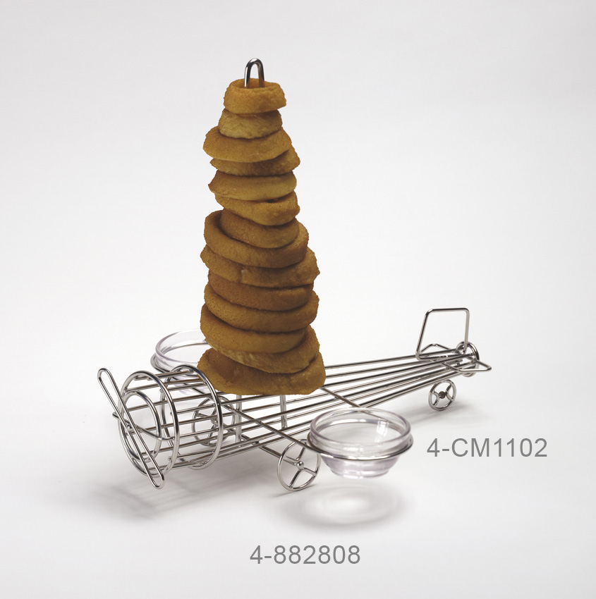 "12"" x 11"" Onion Ring Airplane Tower w/ 2 Holders, 12.5"" Tall, 2.75"" (Fits ER-025, ER-403, ER-406, S-630, RM-387, F-635, R-3)"
