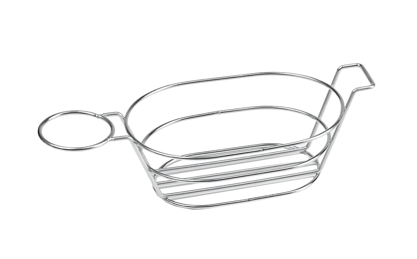 "13.75"" x 6"" Oval Basket w/ Handle and 1 Holder, 3"" Tall (Fits 4-84100, 4-84111, 4-84105, RM-203, S-620, F-625, ER-025)"