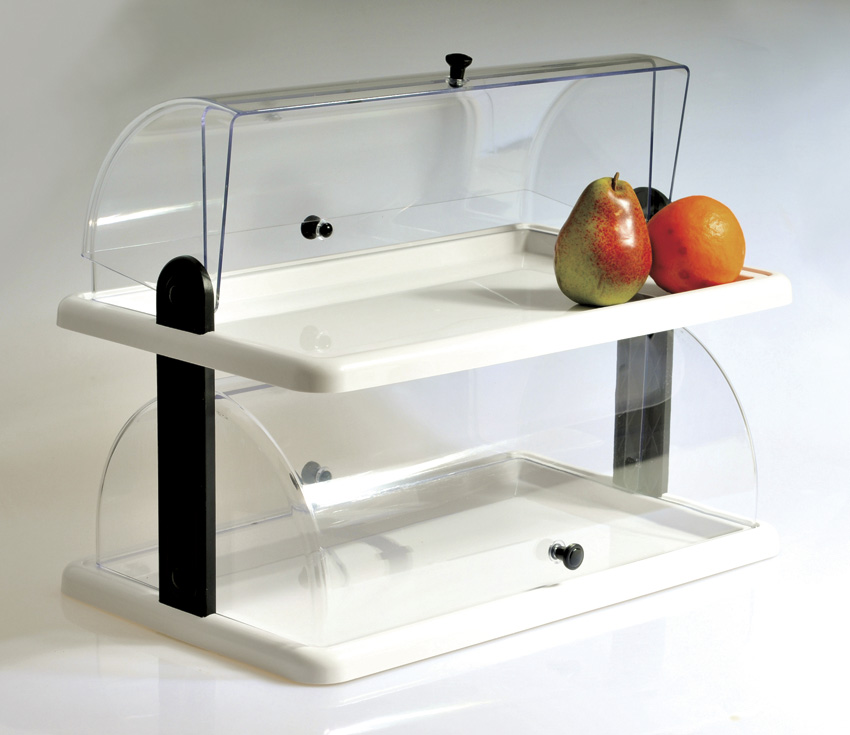 "20"" x 12"" Double-Tier Acrylic Display, 15"" Tall"