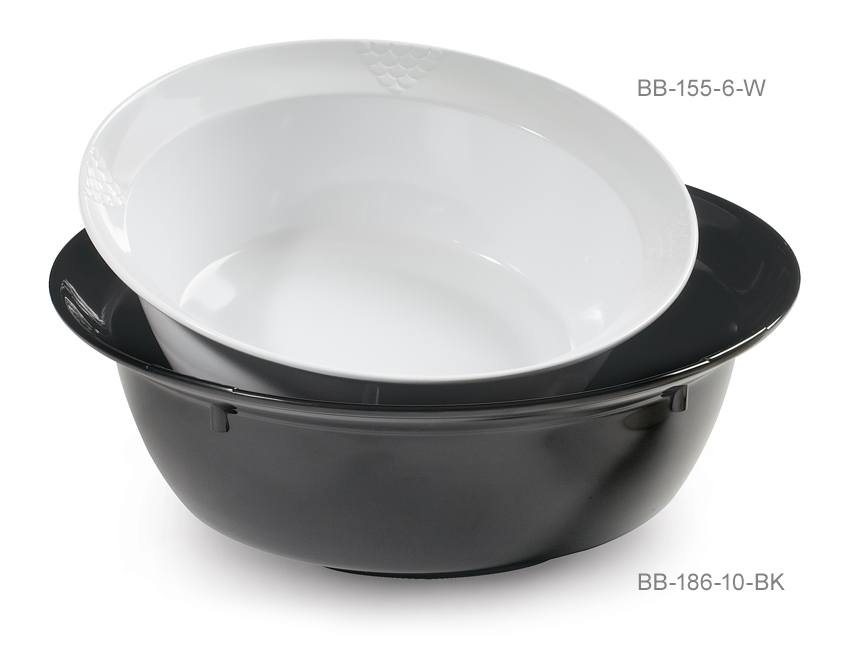 "10 qt. (15.5 qt. Rim-Full), 18"" Bowl, 5.75"" Deep"