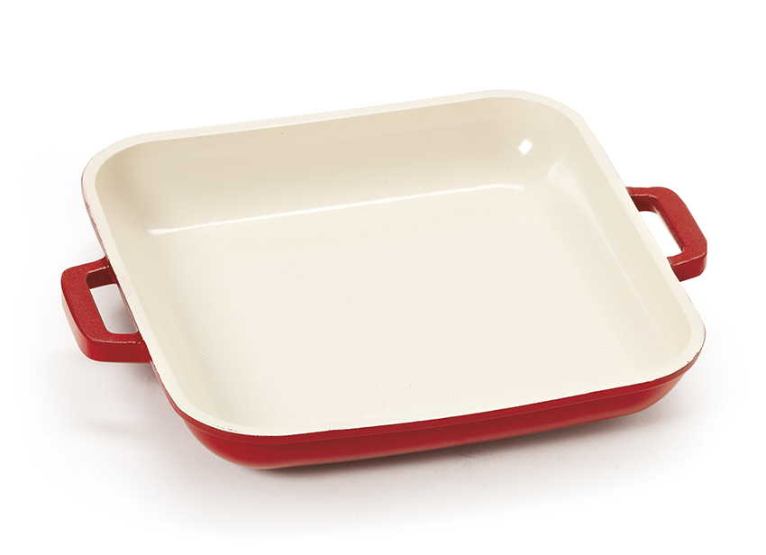 "10 oz. (12 oz. rim-full), 6"" Mini Induction Ready Square Grill Pan (7"" w/ Handles), 1"" deep"