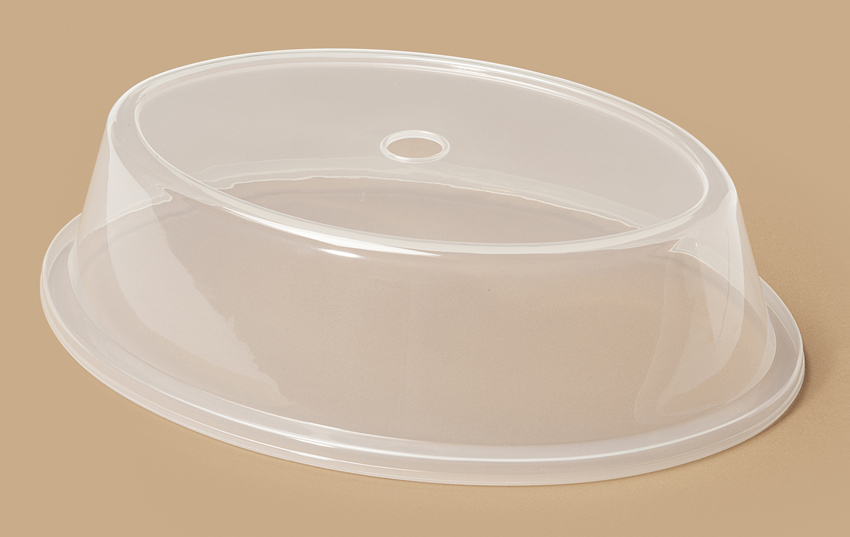 "Plate Cover for 8"" x 11.25"" - 8.63"" x 11.94"" Oval Plate (Top Inset Dia. 5.5"" x 8.75"")"