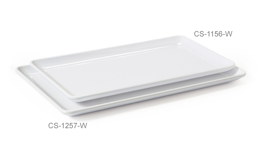 11.5'' x 6'' Rectangular Coupe Platter
