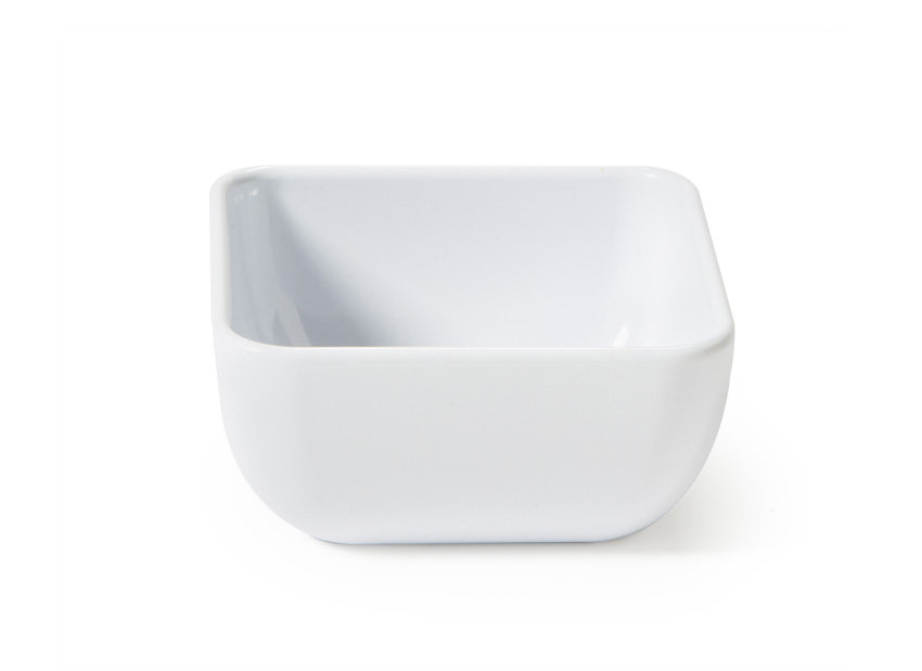 "16 oz. (18 oz. Rim-Full), 4.75"" Square Bowl w/ Rounded Corners, 2"" deep"