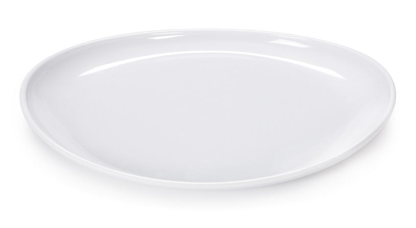"13.25"" x 9.5"" Oval Coupe Platter"