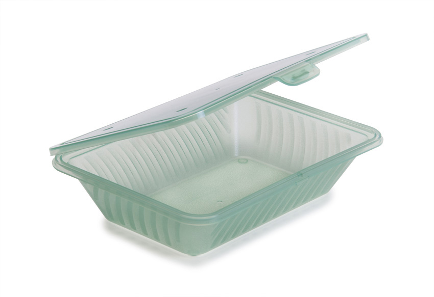 """9"""" x 6.5"""" Flat Top Half Size Food Container, 2.5"""" deep"""