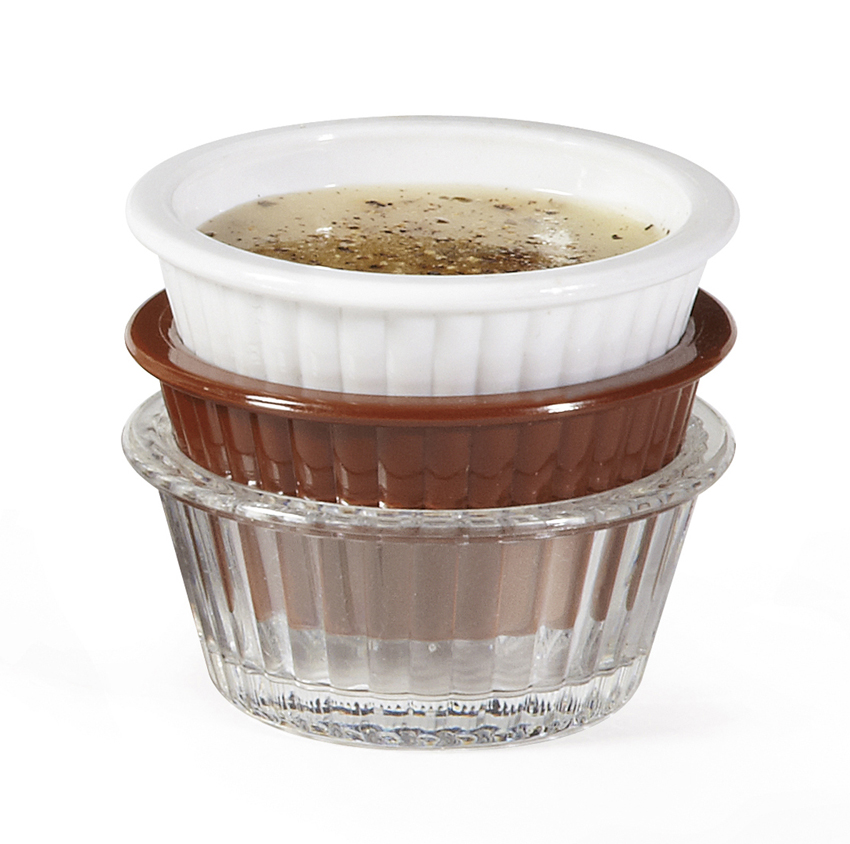"1 oz., 2.25"" Fluted Ramekin, 1"" Deep"
