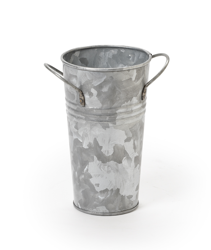 "3.5"" Dia. Galvanized Bucket (5"" with Handles), 6"" tall (fits PL-54 liner)"