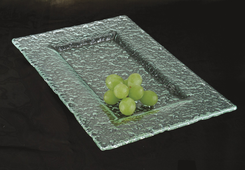 "12"" x 8"" Jade Glass Rectangular Platter"