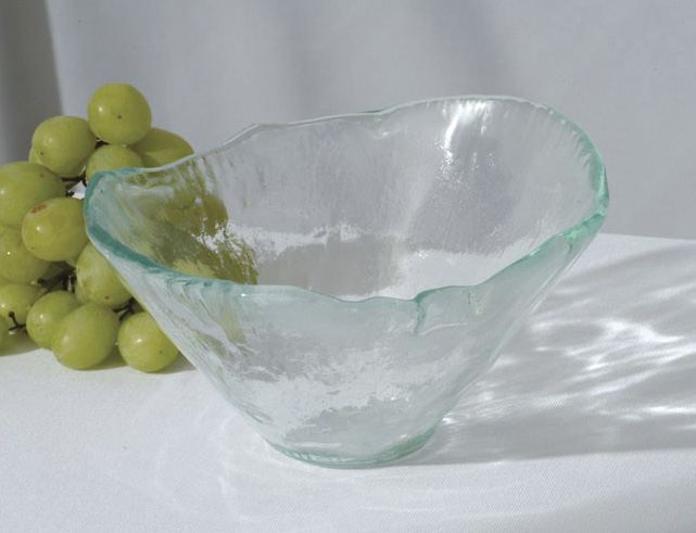 "16 oz. Woven Jade Glass Bowl, 6.25"" tall"