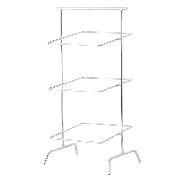 "12"" Chrome Square 3-Tier Basket Stand, 31"" tall  (fits WB-104C, WB-106C)"