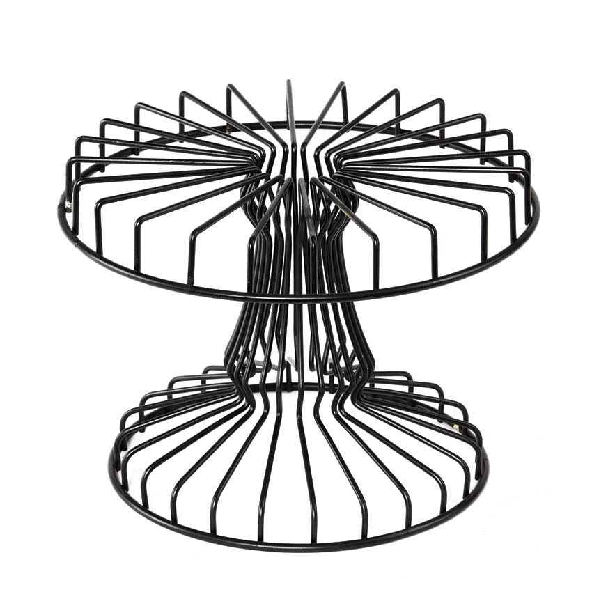 "13"" Round Wire Cake Stand, 9"" tall"