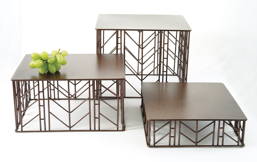 "10"" x 12"" Rectangular Prairie Riser Set, 3"", 6"", 9"" tall"