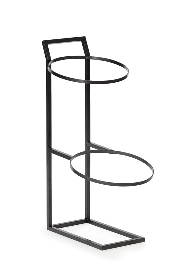 "11.5"" Dia. 2-Tier Merchandising Stand for Two Round Baskets, 28"" tall (fits two WB-1521)"