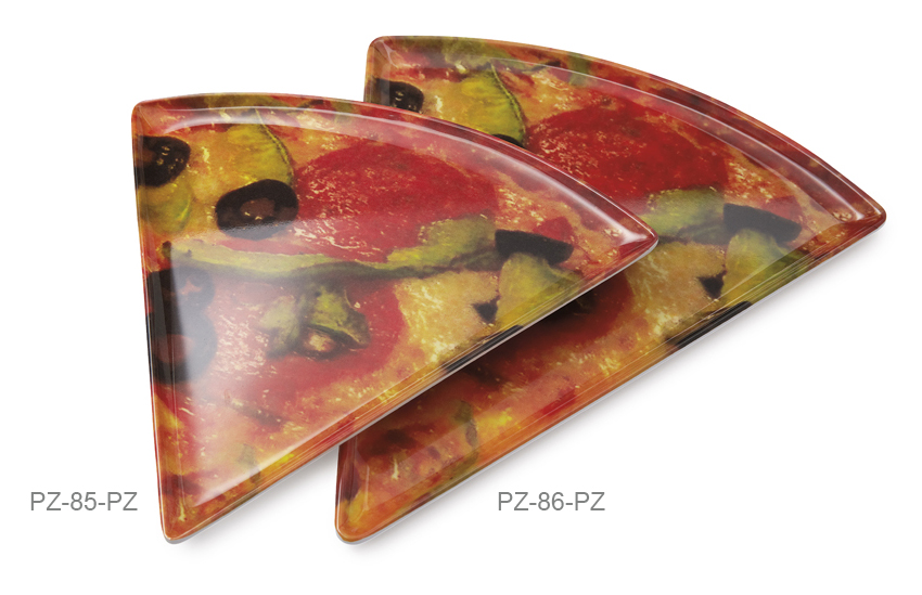 "10.25"" x 9"" Triangle Pizza Plate"