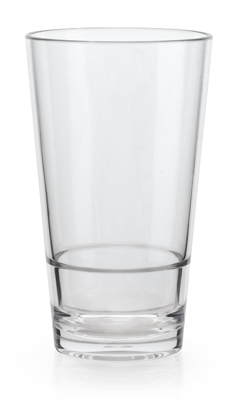 "14 oz. (14.8 oz. Rim-Full), 3.2"" Stackable Glass, 5.5"" Tall"