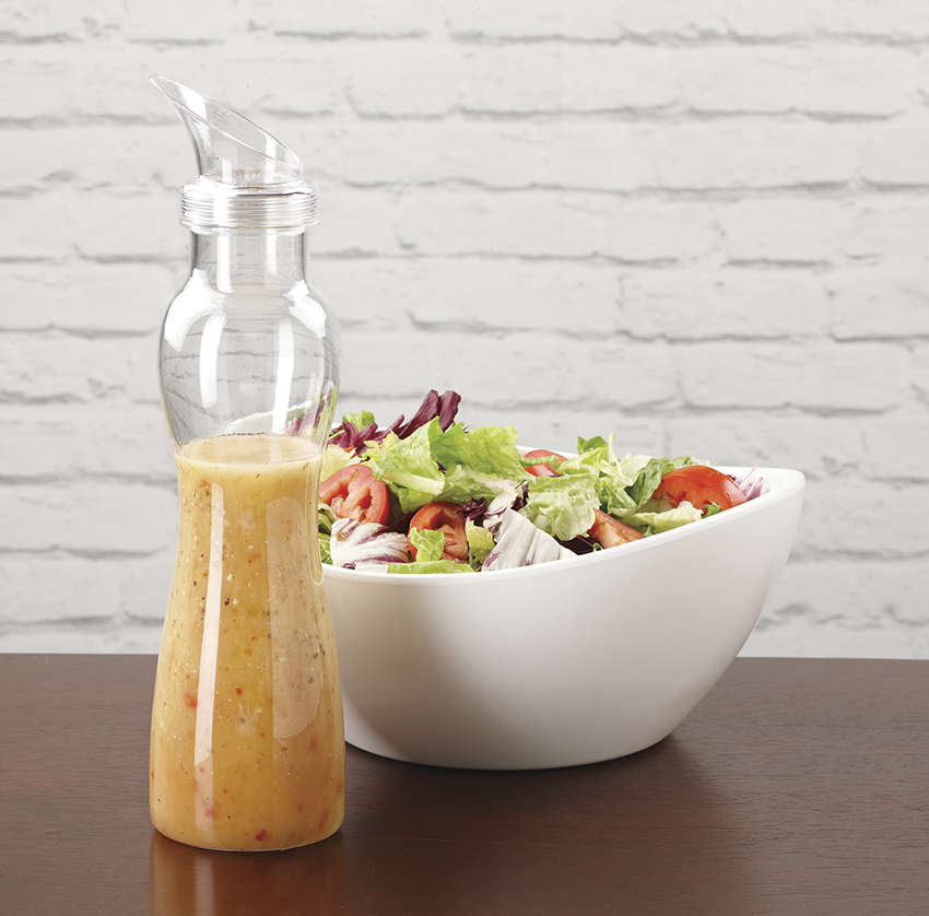 "32 oz. Salad Dressing Bottle, 10.8"" Tall (Bottle Only), Clear"