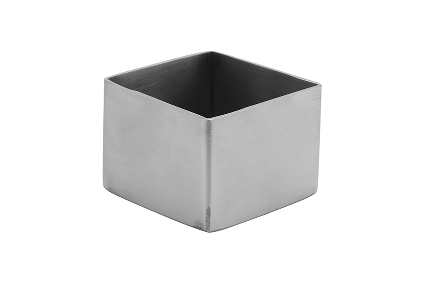 5.3 cm Stainless Steel Square Sugar Packet Holder, w/ Brush Finish, 5.3 cm tall