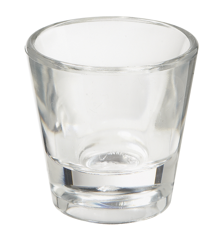 "1 oz. (1.2 oz. Rim-Full), 2"" Shot Glass, 2"" Tall"