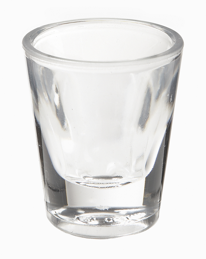"1 oz. (1.1 oz. Rim-Full), 2"" Shot Glass, 2.75"" Tall"