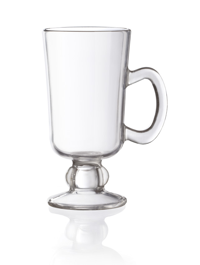 "10 oz. (10 oz. Rim-Full), 2.9"" dia. (4"" w/Handle) Irish Coffee Mug, 5.75"" Tall"