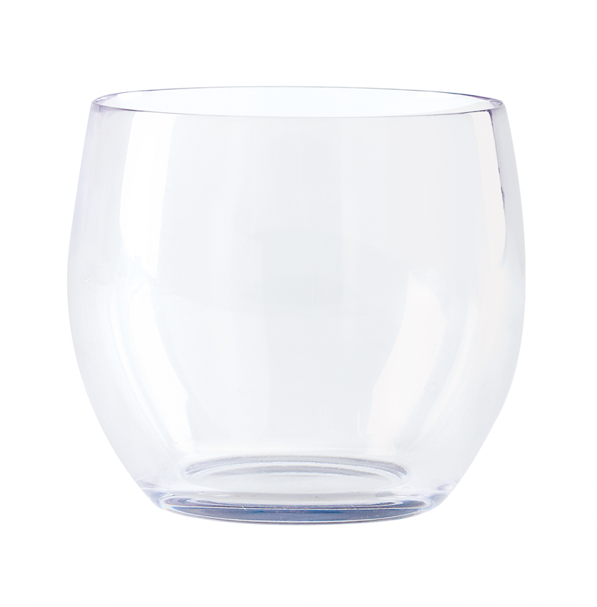 "8 oz. (8.95 oz. Rim-Full), 3.4"" Stemless Wine Glass, 3"" Tall"