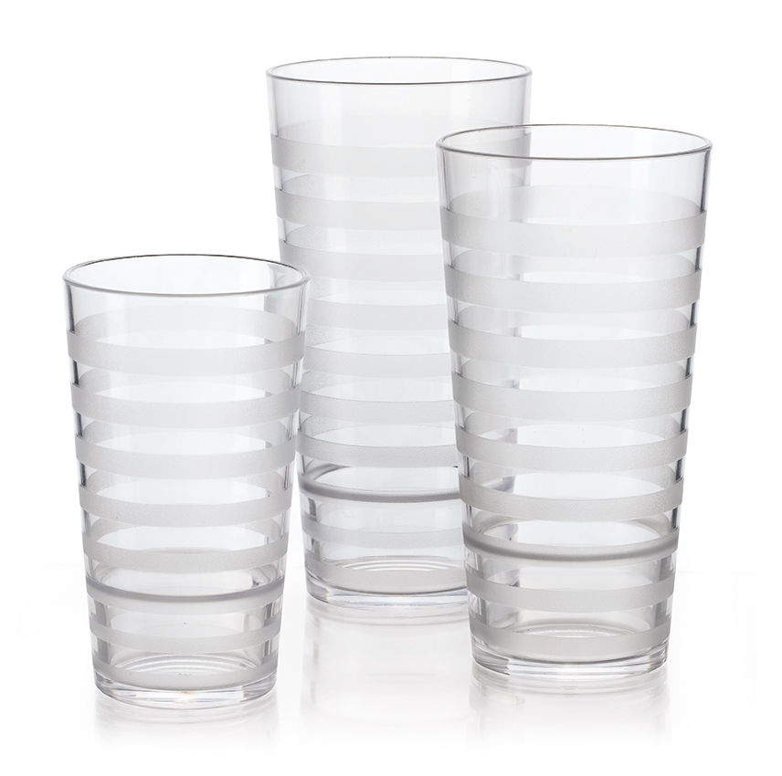 "24 oz. (24.85 oz. Rim-Full), 3.5"" Tumbler, 7.07"" Tall"