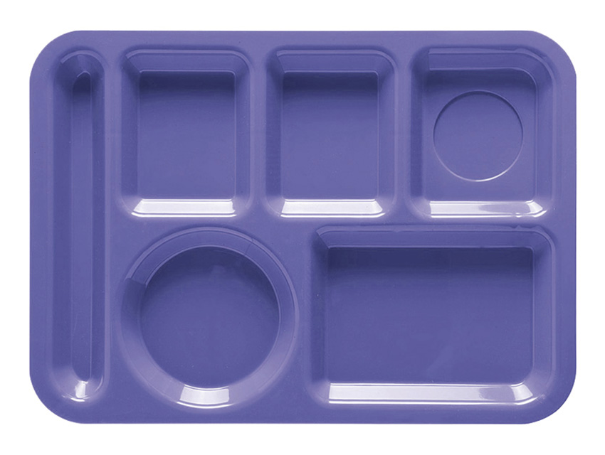 "10"" x 14"" L-Hand, 6-Compartment Tray"