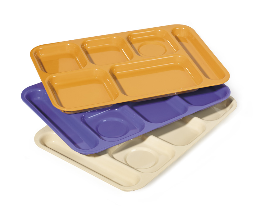 "10"" x 14.5"" R-Hand, 6-Compartment Tray"