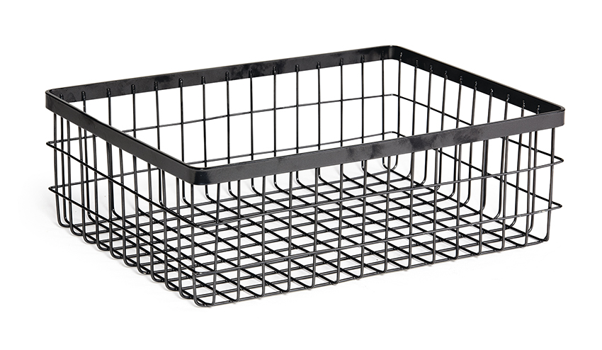 "12"" x 9"" Rectangular Wire Basket, 4"" tall (fits MTS-20L)"