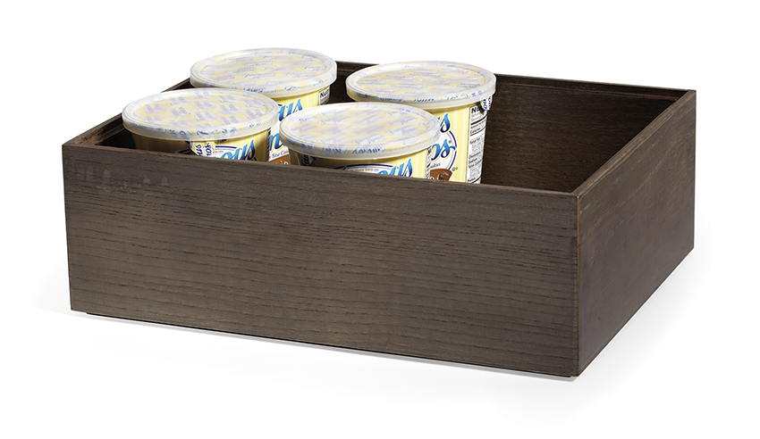 "12"" x 9"" Rectangular Stackable Wood Display Box Condiment Organizer, 4"" tall (fit MTS-20L)"