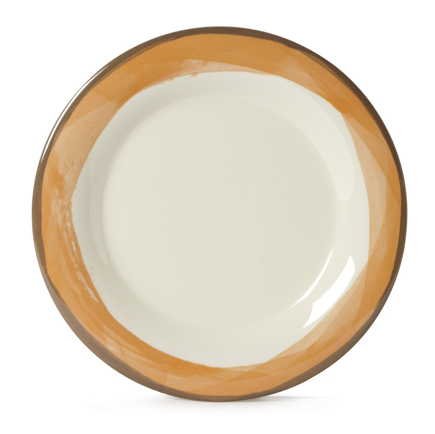 "10.5"" Wide Rim Plate, Diamond Ivory� Base Color"