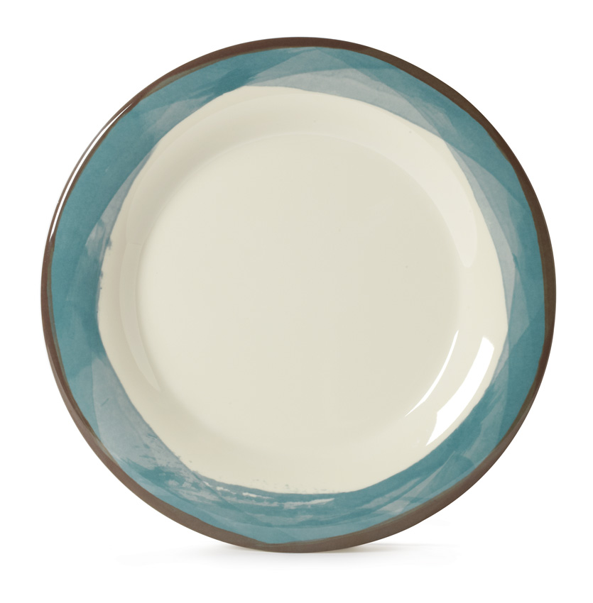 "7.5"" Wide Rim Plate, Diamond Ivory� Base Color"