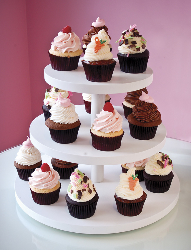 "15"" Bottom, 12"" Middle, 9"" Top 3-Tier Small Cupcake Stand"