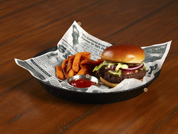 11. Creative Ways to Serve Entrée: Burger and Fries