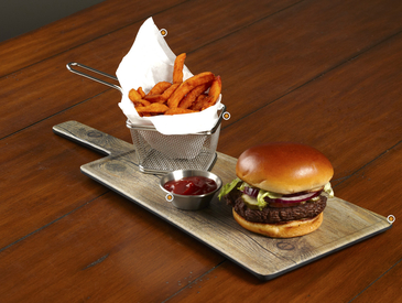 1. Creative Ways to Serve Entrée: Burger and Fries
