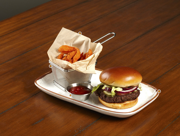 6. Creative Ways to Serve Entrée: Burger and Fries