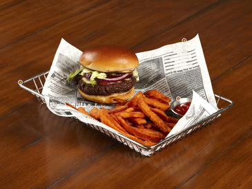 9. Creative Ways to Serve Entrée: Burger and Fries