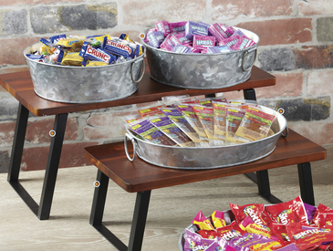 Galvanized Metal Snack Display