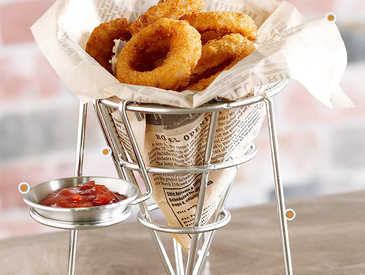 7. Creative Ways to Serve Appetizers: Onion Rings