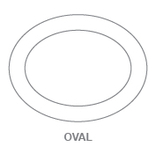 Plates:Oval