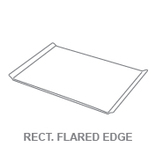 Display Trays:Rectangular Flared Edge