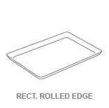 Display Trays:Rectangular Rolled Edge