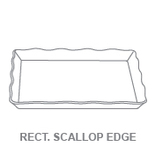 Display Trays:Rectangular Scallop Edge