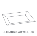 Display Trays:Rectangular Wide Rim