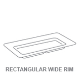 Platters:Rectangular Wide Rim