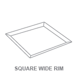 Display Trays:Square Wide Rim